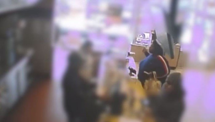 If arrested, the customer could face charges of felony assault and physical child abuse, police say. (Source: Glendale Police Department/WISN/CNN)