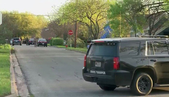 A search was conducted at the home of Mark Conditt. Media reported that a SWAT was at the scene. (Source: KEYE/CNN)