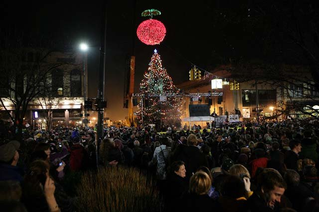 The CherryT is dropped to ring in the New Year in Traverse City, MI. (Source: Dean Rose, WindStorm Marketing)