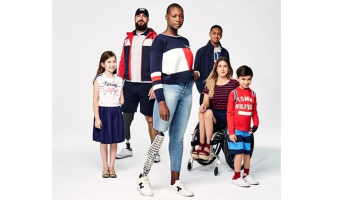 The clothes are designed to accommodate people of different abilities, whether missing a limb, autistic or propelled by a wheelchair. (Source: Tommy Hilfiger)