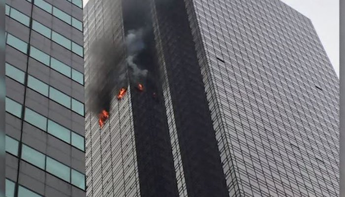 Fire breaks out at Trump Tower; 1 dead, at least 4 firefighters - | WBTV Charlotte