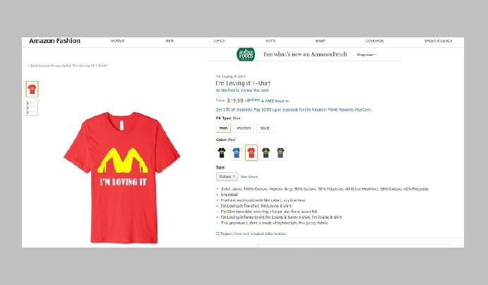 The mom took a closer look at the T-shirt when her son got home from school and realized the logo print wasn't of golden arches after all. (Source: Amazon)