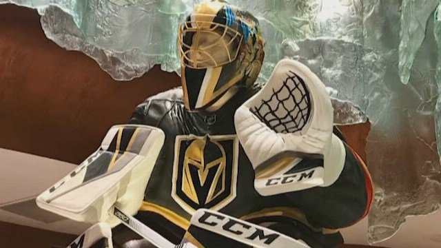 The statue will be on display outside the casino's patisserie during the Stanley Cup playoffs, which begin on Wednesday. (Source: CNN)