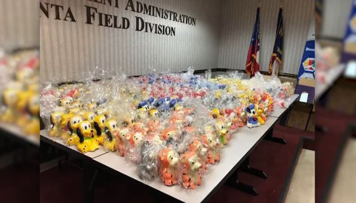 A total of 500 pounds of meth was found in the figurines. (Source: DEA/WGCL/CNN)