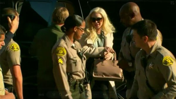 Lohan arrived at court about 15 minutes before her hearing was scheduled to begin. (Source: CNN)