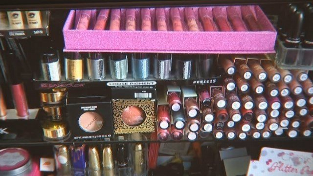 Officials said some of the makeup was contaminated with bacteria and human waste. Source: (KABC/CNN)