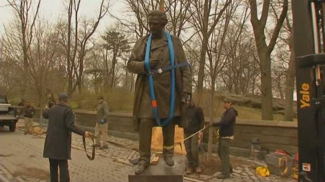 Controversial statue removed from Central Park