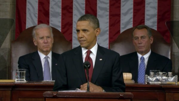 President Barack Obama delivers his third State of the Union address before a joint session of Congress. (Source: CNN)