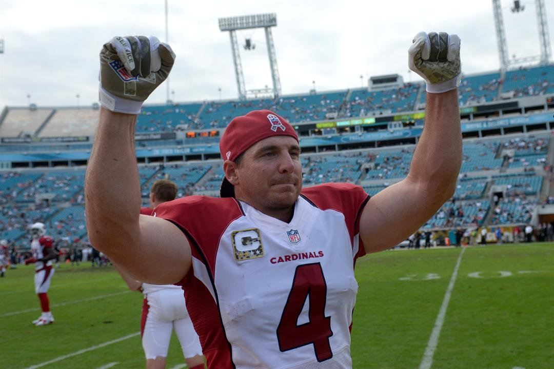 (AP Photo/Phelan M. Ebenhack) Arizona Cardinals kicker Jay Feely (4) cheers on the sideline at the end of the second half of an NFL football game against the Jacksonville Jaguars in Jacksonville, Fla., Sunday, Nov. 17, 2013.