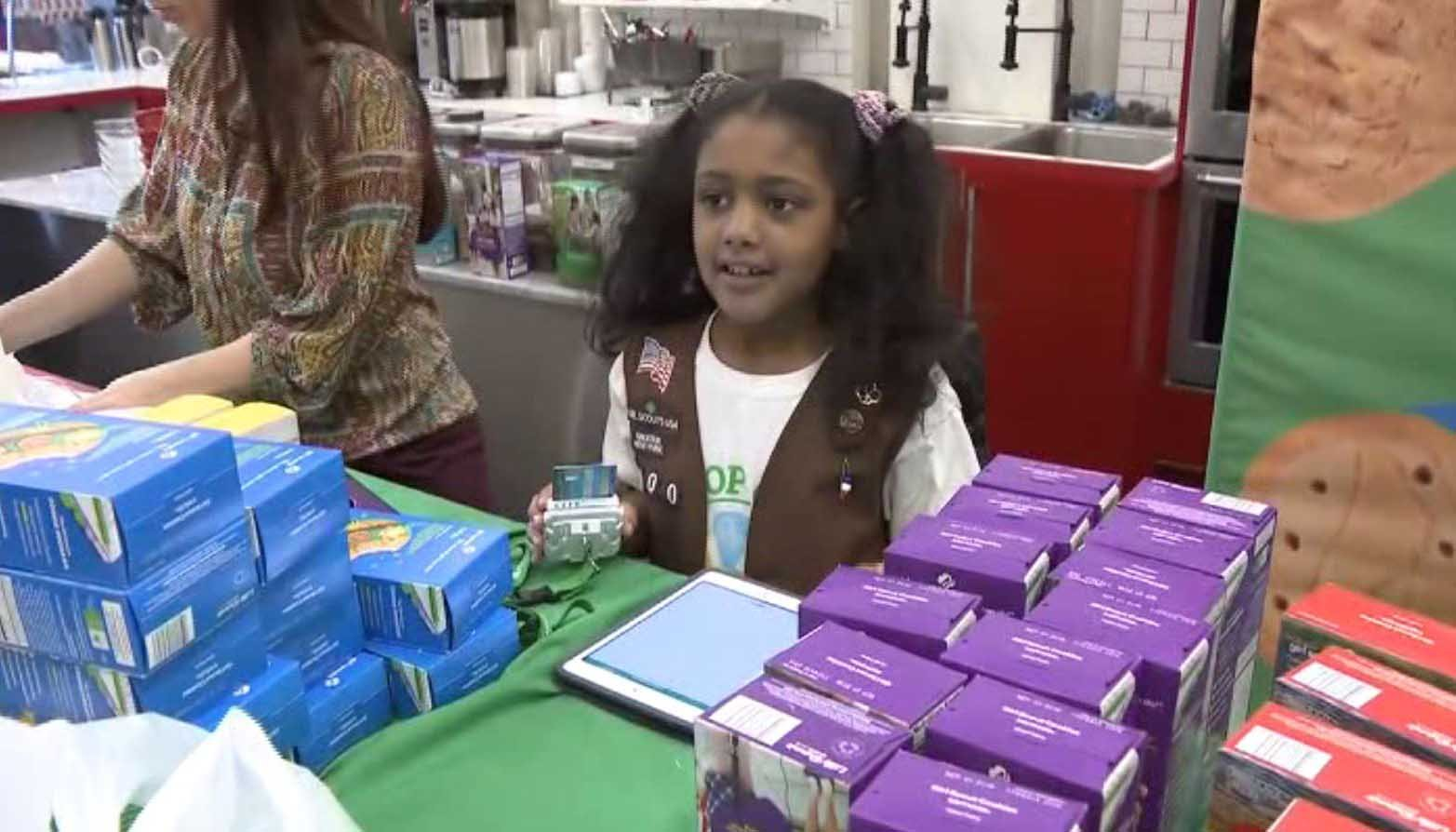The girls of Troop 6000 in New York City have met, and even exceeded, their sales goal. (Source: WCBS/CNN)