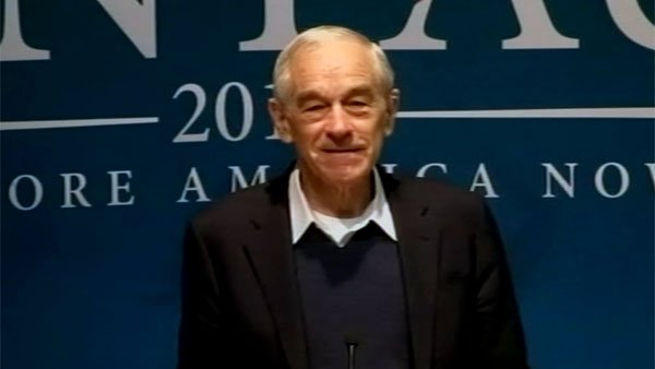 Rep. Ron Paul (R-TX) campaigns in Waterville, ME on Friday, skipping campaign stops in Florida for the delegates in the Pine Tree State. (Source: CNN)
