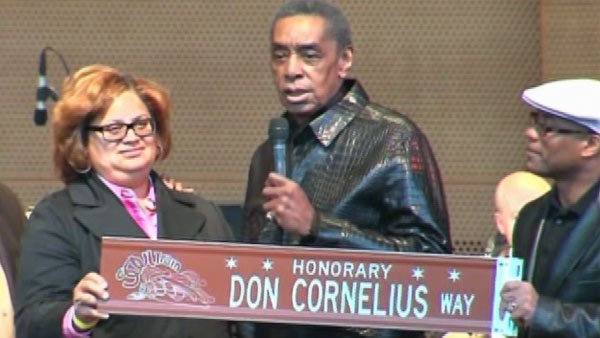 The honorary Don Cornelius Highway in Chicago was named in his honor on Sept. 5, 2011. Cornelius was suffering from unknown health conditions before his death. (Source: CNN)