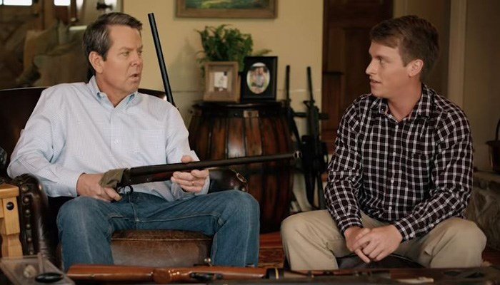 Georgia Republican candidate defends shotgun ad