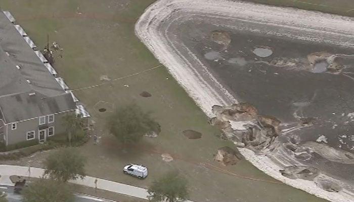 At Least a Dozen Sinkholes Open in Florida Neighborhood