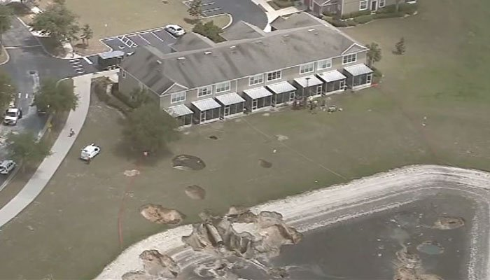 At Least a Dozen Sinkholes Open in Florida Neighborhood