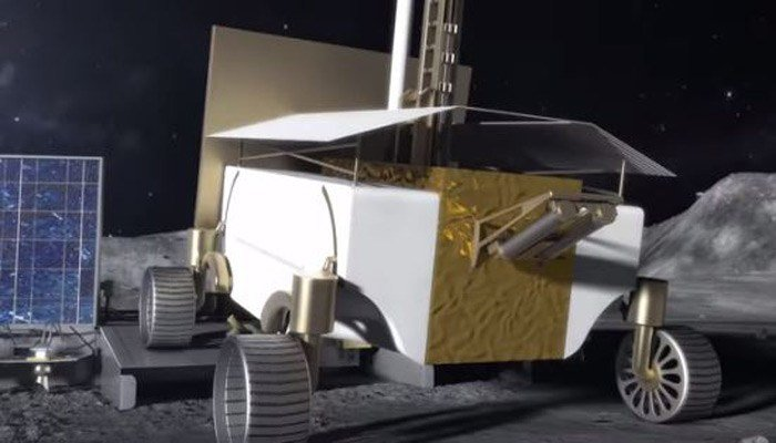 The rover would have mined the lunar surface for things like water, hydrogen and oxygen. (Source: NASA)
