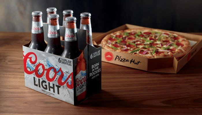 Pizza Hut will be delivering MillerCoors beers with its pizza. (Source: Pizza Hut)