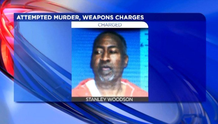 Stanley Woodson is charged with attempted murder after he allegedly shot a man because he was mad about the amount of peaches served with his cobbler. (Source: WREG/CNN)