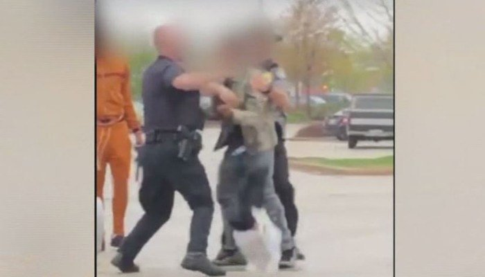 Video shows white Wisconsin police officer punching black teenager in the face