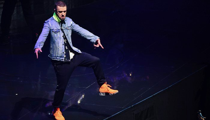 Justin Timberlake at a recent concert at Madison Square Garden in New York. (Source: Evan Agostini/Invision/AP)