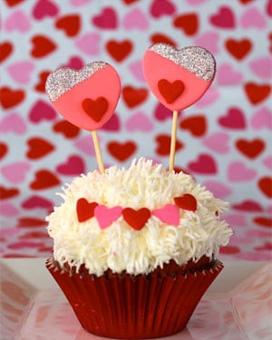 "While it may appear complex, the ""Love Monster"" cupcake is easily adaptable for all skill levels, McGarry says. (Source: Buttercream Blondie)"