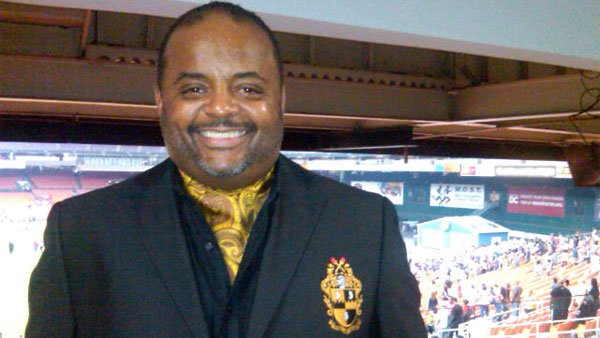 Pundit Roland Martin poses for a photo at a college football game in September 2011. (Source: @rolandsmartin/Twitter)