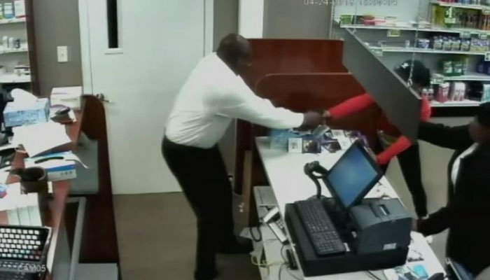 The man plans to order bulletproof glass for behind the counter, as well as a gun. (Source: WSB/CNN)