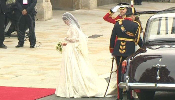 When Kate Middleton married Prince William, she wasn't the only one wearing white. (Source: CNN)