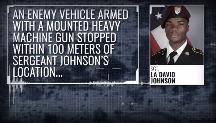 Sgt. La David Johnson was separated from his team under fire and his body was found 48 hours later. (Source: CNN)
