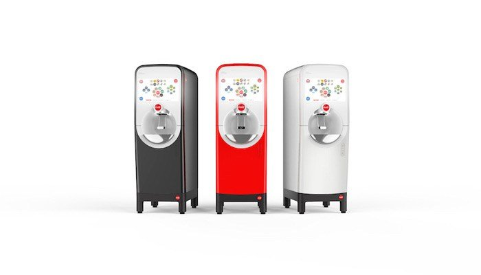The folks at Coca-Cola unveileda new dispenser over the weekend that lets you mix your next soft drink on your smartphone. (Source: Coca-Cola Co.)