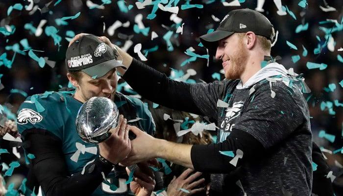 The Philadelphia Eagles won the Super Bowl in February. (Source: AP Photo/Frank Franklin II)