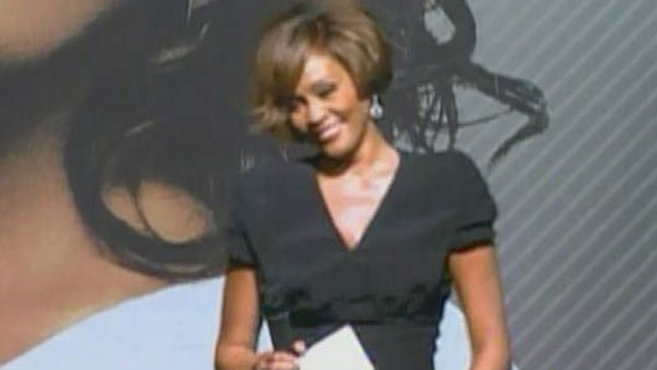 Whitney Houston at an album release party. (Source: CNN)