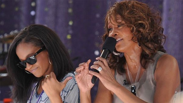 Legendary songstress Whitney Houston, right, sings 'My Love is Your Love' with her daughter Bobbi Kristina Brown on 'Good Morning America' Sept. 1, 2009. (Source: Asterio Tecson/Flickr)