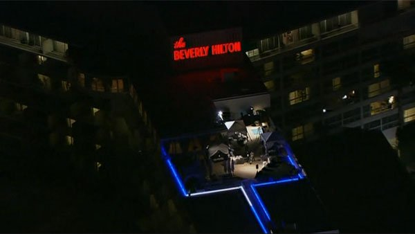 Houston's body was found in her fourth floor hotel room at the Beverly Hilton Hotel on Saturday in Beverly Hills, CA. (Source: CNN)