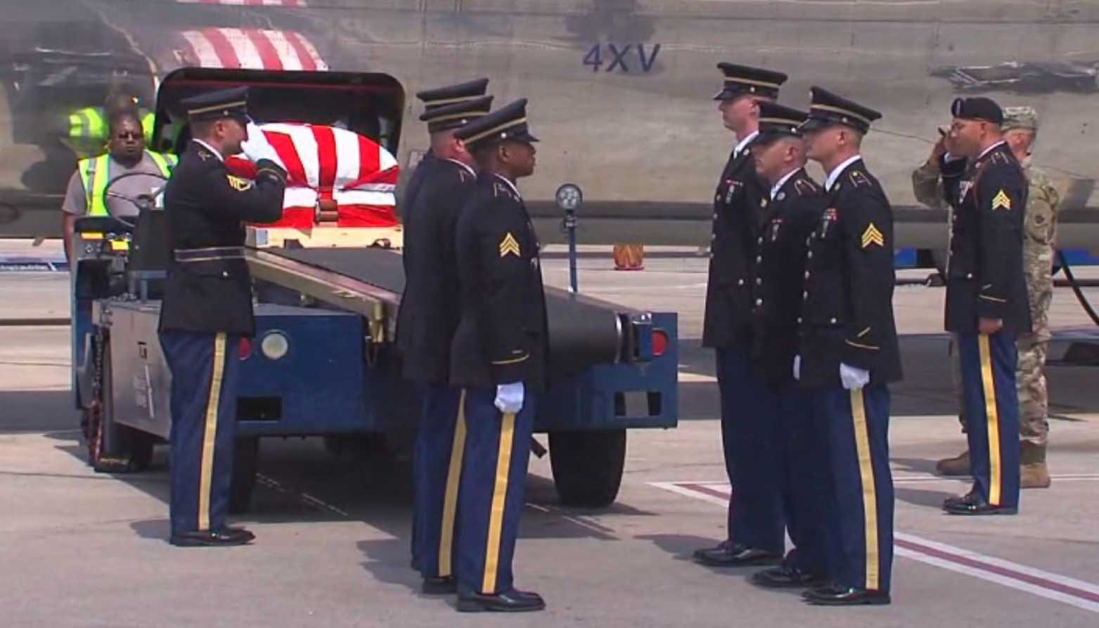 The remains of a World War II veteran are home after more than 70 years. (Source: KJRH via CNN)