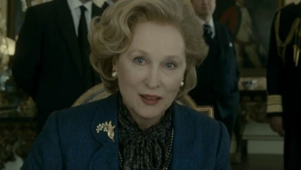 Meryl Streep is in close competition with Davis, her former 'Doubt' co-star, in the best actress category. Streep is nominated for her portrayal of former British prime minister Margaret Thatcher in 'The Iron Lady.' (Source: The Weinstein Company/CNN)