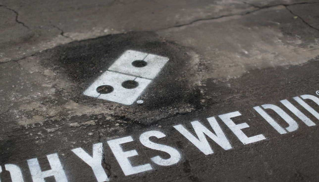 Domino's has paved five potholes in Burbank CA according to the company