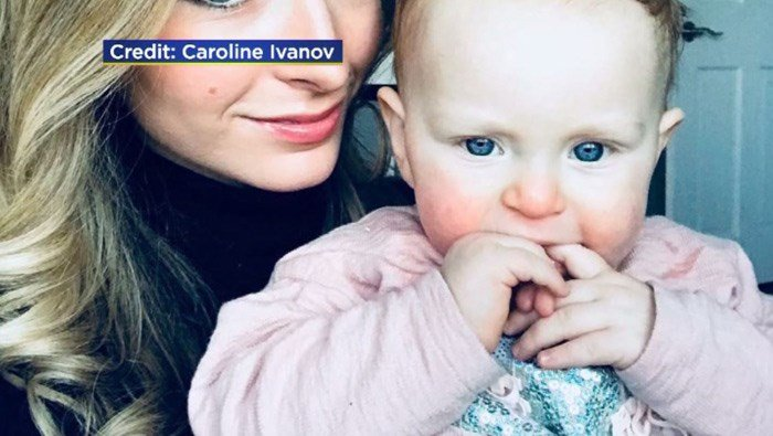 Chloe's mother, Caroline Ivanof, said the baby suddenly started having a seizure while at a birthday party in New York. (Source: Family/WCBS/CNN)