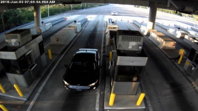 Surveillance video captured a truly terrifying moment that could have so easily turned tragic. (Source: Florida Highway Patrol/CNN)