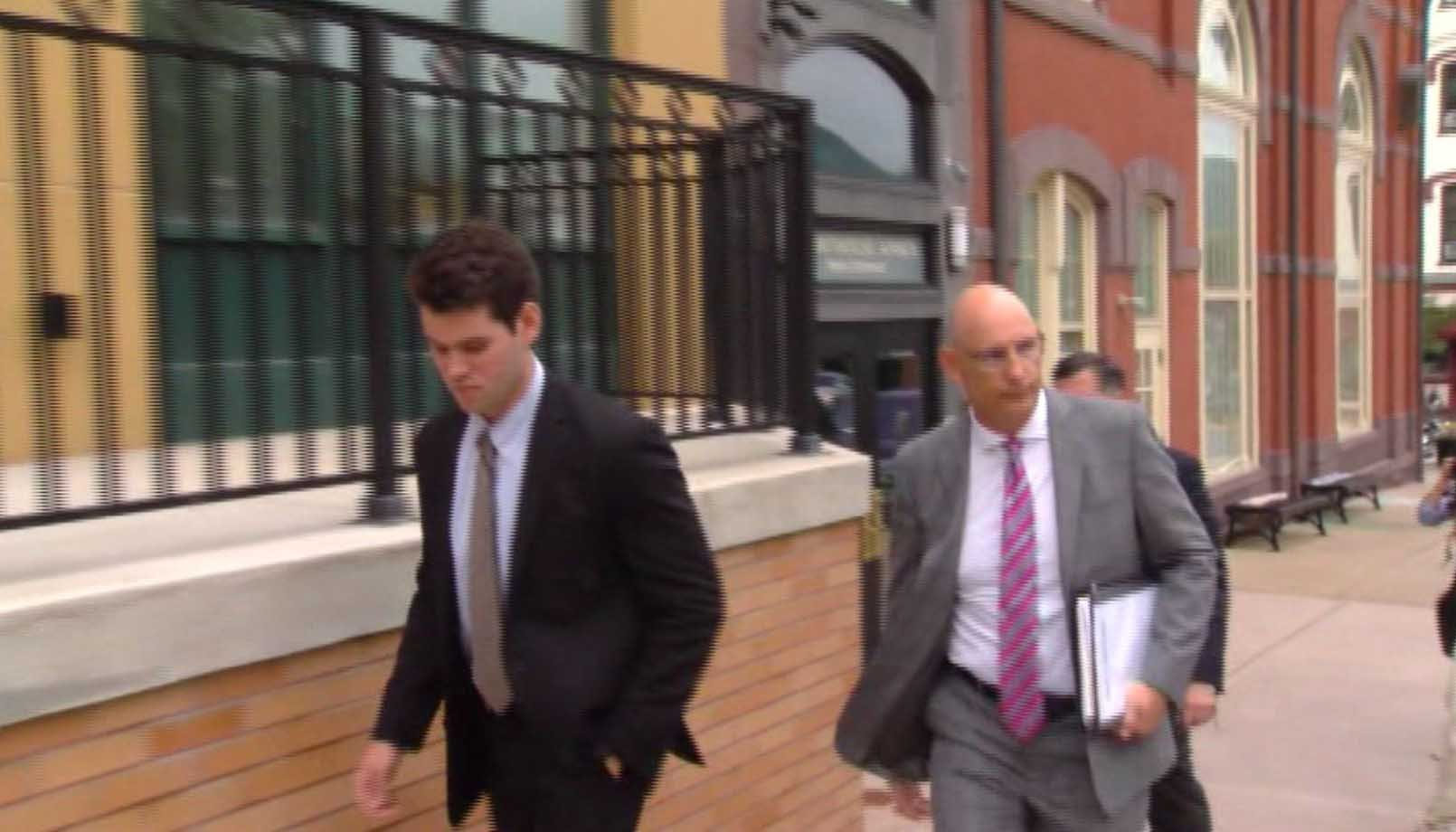 Ryan Burke, one of the 24 defendants in the hazing death of Timothy Piazza, pleaded guilty Wednesday and will be sentenced next month. (Source: WJAC via CNN)