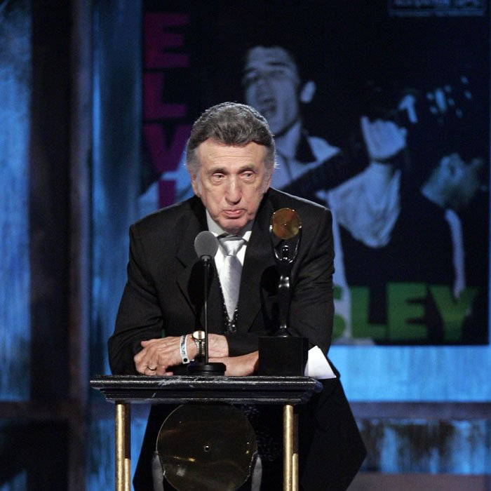 D.J. Fontana, the legendary drummer who played alongside Elvis Presley, has died at the age of 87. (AP Photo/Tony Dejak)
