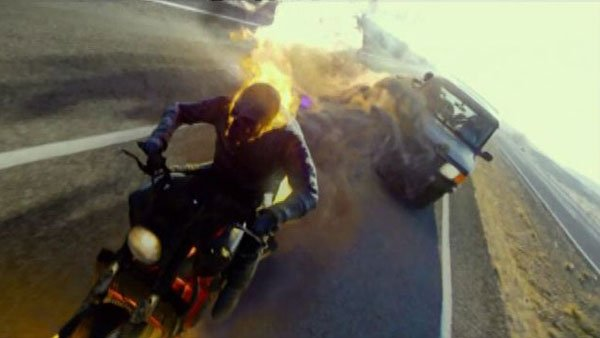 &quot;Ghost Rider: Spirit of Vengeance&quot; rode into theaters Friday but performed far worse than its predecessor. (Source: CNN/Sony Pictures)