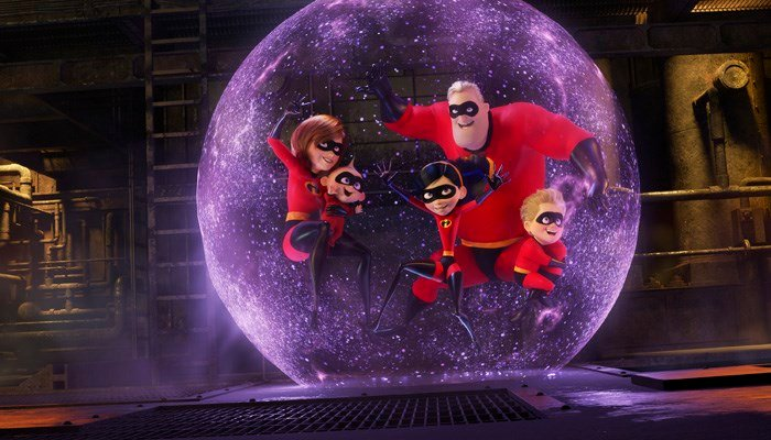 """This image released by Disney Pixar shows a scene from """"Incredibles 2,"""" which was released on June 15. (Source: Disney/Pixar via AP)"""