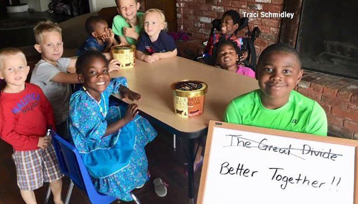 The children wrote how they think the name for the vanilla-chocolate mix flavor, Great Divide, could be improved. (Source: CNN/Traci Schmidley)