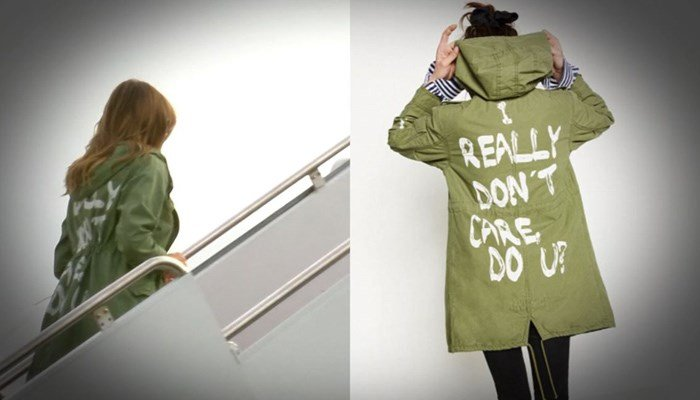 Melania Trump jacket stuns on migrant visit