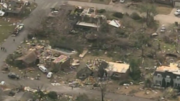 Aerial footage from Harrisburg, IL shows the devastation left behind after an EF4 tornado hit the town early Wednesday morning. (Source: KTVI/KPLR/CNN)