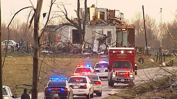 At least three people are dead after severe storms hit the community of Piner in Kenton County, KY. (Source: WXIX)