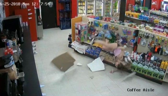 Escape route fails suspect who crashes through store ceiling