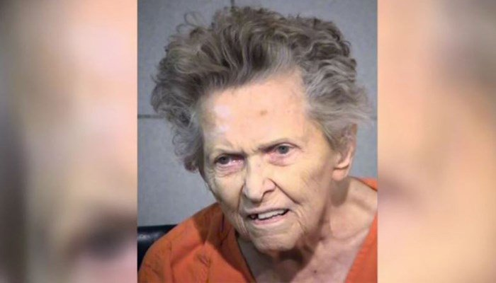 Anna Mae Blessing, 92, allegedly shot and killed her 72-year-old son on Monday. Detectives said she confronted him over his wish to put her in an assisted living facility. (Source: Maricopa County Sheriff's Office/KPHO/KPHK/CNN)