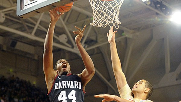 Harvard forward Keith Wright (44) could be one of the game changers if the Crimson scores an upset in the NCAA Tournament. (Source: Gil Talbot/Harvard athletics)